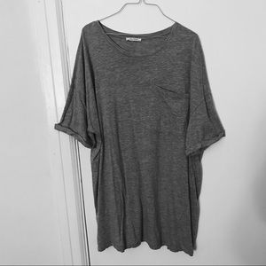 Zara Light Grey Jersey Knit T-Shirt Dress